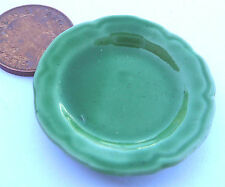 1:12 Green Serving Plate Doll House Miniature Ceramic Kitchen Accessory G35