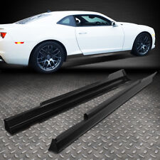 FOR 2010-2015 CHEVY CAMARO ZL1 STYLE PAIR SIDE SKIRTS PANEL EXTENSION BODY KIT