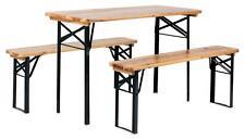 Ensemble Salon de Jardin Table et Chaise de Exterieur Balcon Bois Pliables 117cm