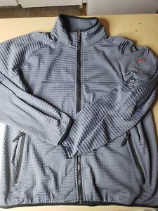 Nike Sphere Thermal Waffle zip up mock jacket Mens Large