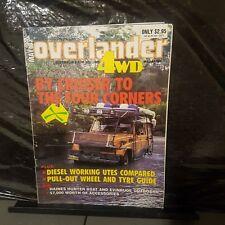 Vintage 4x4/4wd overlander magazine may.87. Mits.triton ute. 1 ton diesel utes