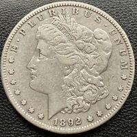 USA 1892 S Morgan Dollar Silber Selten  Gute Erhaltung Sammlerstück  #22455
