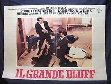 FOTOBUSTA CINEMA - IL GRANDE BLUFF - EDDIE CONSTANTINE - 1957 - AVVENTURA - 02