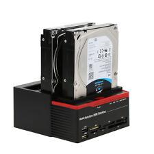 "2.5/3.5"" IDE&SATA Hard Disk Base USB 3.0 HDD Docking Station Three-Bay US B4F3"
