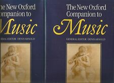 The New Oxford Companion to MUSIC Edited by Denis Arnold Volume 1 & 2 1990 Hc Dj