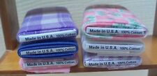 Dollhouse Mini 6 Handcrafted tiny fabric bolts sewing Made in USA 100% cotton