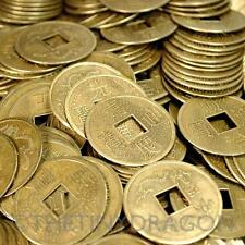 """LOT OF 20 LARGE FENG SHUI COINS 3.2cm 1.25"""" Lucky Metal Chinese Fortune Coin NEW"""