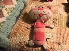 """Jay At Play Seat Pets 21""""Pink Cat-Buckle up-Snuggle Up Seat Belt Buddy"""