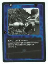 Doctor Who Black Border CCG Creature Card Krotons Common Card Good Condition