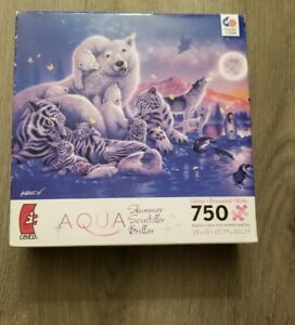 Ceaco Aqua Shimmer Glitter 750 Piece Jigsaw Puzzle Song Of The Moon