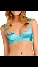 Heidi Klum Intimates Capri Blue Silk Blend Bra Size 32B RRP £65.00