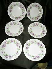 Set of 6 Vintage Royal Standard Violetta English bone china tea plates