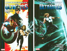 ULTIMATE COMICS The Ultimates Jonathon Hickman Vol 1 & 2 HC Hardcover *Sealed/NM