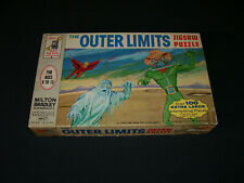 1964 Milton Bradley Outer Limits Puzzle Box TV Monster Character Horror Sci-Fi
