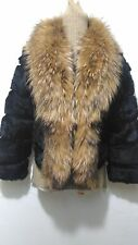 Nuevo diseño 100% real muy suave con piel de zorro abrigo de piel de conejo