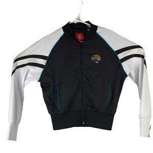 Jacksonville Jaguars Ladies Small Black White Full Zip Cropped Jacket Football