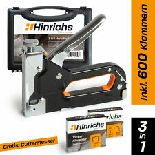 Hinrichs Handtacker im Koffer - Handtacker Holz mit Klammern Nägeln