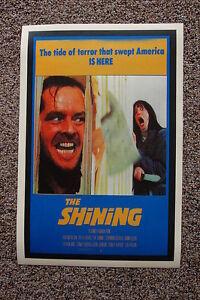 The Shining #1 Lobby Card Movie Poster Jack Nicholson Shelley Duvall Blue