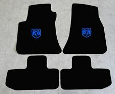 Autoteppich Fußmatten für Dodge Challenger ab Bj.2008 Velours Nubuk blau Neu