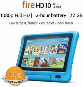 """Fire HD 10 Kids Edition Tablet – 10.1"""" 1080p full HD display, 32 GB, Blue Kid-Pr"""