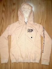 NWT Abercrombie & Fitch Women Faux Fur Lined Hoodie Sweatshirt Jacket S Pink