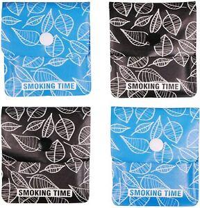 2x Taschenascher - Aschenbecher to go aus Recyclingmaterial blau & schwarz