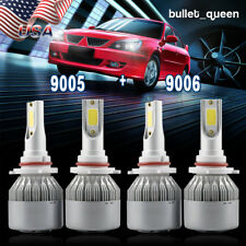 9005 9006 Combo LED Headlight Bulbs for 1999-2006 Chevrolet Silverado 1500 2500