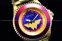 Invicta 47mm Limited Ed. Grand Diver DC Comics WONDER WOMEN Auto 18k Gold Watch