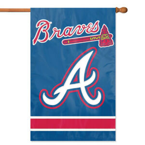 Atlanta Braves House Banner Flag PREMIUM Outdoor DOUBLE SIDED Embroidered