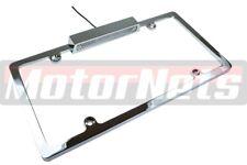 Chrome Aluminum License Plate Frame Light Lamp Chevy Ford Mopar Chrysler Old Rod