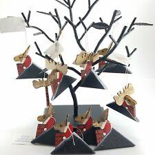 Wilderness Woods Vintage Christmas Ornaments Handmade Rustic Moose Santa