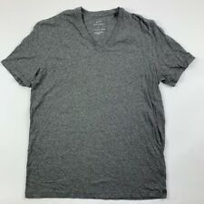 Armani Exchange Unisex T-Shirt Gray Heathered V Neck Pima Cotton Tee L New