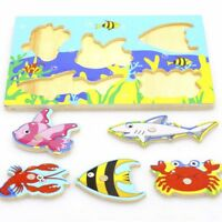 Kids Toy Wooden Fishing Toy Children Early Learning Puzzle Skill-Training Gift*