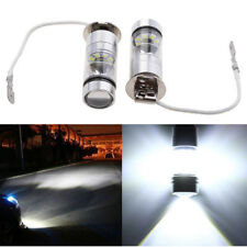 Pair H3 7500K 100W LED 20 SMD Lamp Projector Fog Driving DRL Light Bulbs White
