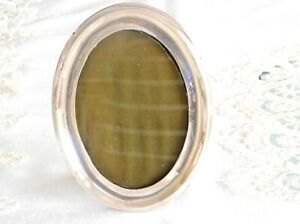 CHARMING ANTIQUE STERLING SILVER OVAL  PICTURE FRAME BIRMINGHAM ENGLAND C 1870'S