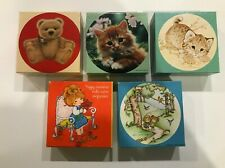 Lot of 5 Vintage Springbok mini-jigsaw puzzles