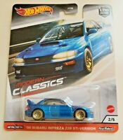 Hot Wheels 98 Subaru Impreza 22B STi-Version Blue #2 Modern Classics 2/5