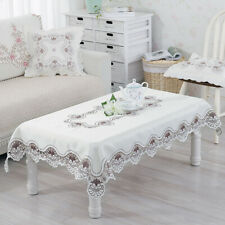 1X Modern Tablecloth Embroidered Lace Hem European Style Cover Table Cloth Decor