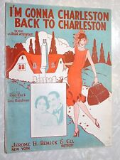 1925 I'M GONNA CHARLESTON BACK TO CHARLESTON SHEET MUSIC, By Turk & Handman