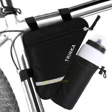 Reflective Bicycle Front Triangle Top Tube Saddle Bike Bag Water Bottle Pocket