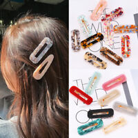 Women Girl's Hair Slide Clips Snap Barrette Hairpin Pins Hair Accessories