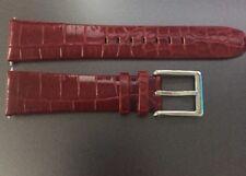 Genuine Dkny Rojo Oscuro Borgoña Cuero Reloj Correa Hebilla & 20 mm 16 MM Auténticos