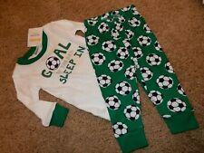 Nwt 3-6M 6-12M GyMbOrEe Boys Soccer Gymmies Pajamas Pj's Set pants Shirt Sleeper
