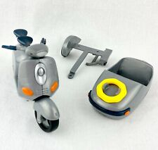 Lil' Bratz Grey VESPA, Trailer & Sidecar/Boat ~ scooter dolls ~ great for OOAK