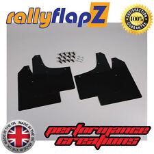 rallyflapZ RENAULT CLIO MK2 (98-05) Schmutzfänger Rennstil Schwarz 3mm PVC