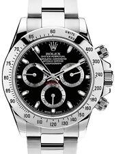 Rolex Daytona Chronograph Steel Black Dial Mens Watch & Box 116520