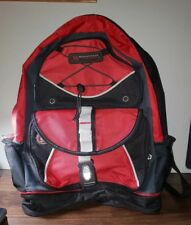 Mountain Terrain Backpack Black and Red Front Zipper Pockets with Snaps