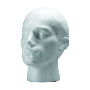 Polystyrene Styrofoam Foam Mannequin Head Stand Men Male Model Shop Display
