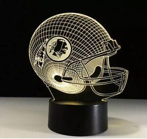 NFL FOOT BALL TEAMS LOGO Washington Redskins LED Light Lamp Collectible Gift 🏈