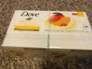 DOVE MANGO BUTTER BEAUTY BAR SOAP 6 PK BARS 3.75 OZ EACH NEW Sealed Great Scent!